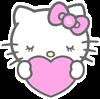 ハローキティー ハート 桃色 ピンク プリ画像