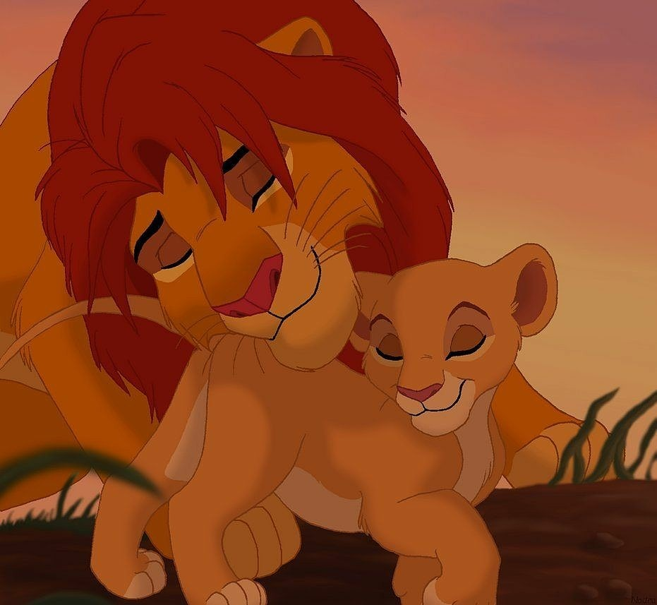 親子2ライオンキング