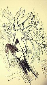 メガバシャーモ【落描き】の画像(プリ画像)