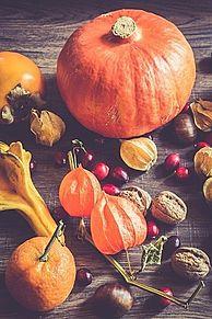 秋の野菜と果物の画像(プリ画像)