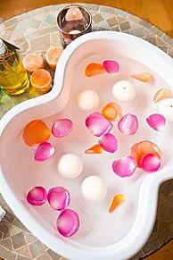 足湯の画像(美容・健康に関連した画像)
