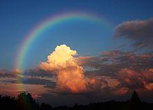 朝の虹の画像(プリ画像)
