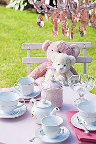 お茶会の画像(メルヘン/不思議/ピンクに関連した画像)