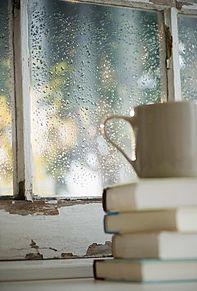 雨の休日の画像(プリ画像)