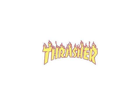 THRASHER 白 ストリート おしゃれ かわいいの画像(プリ画像)