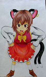 凶兆の黒猫(color) プリ画像