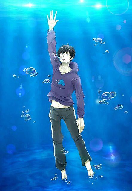 青に溺れるの画像(プリ画像)