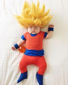 ドラゴンボール 悟空 スーパーサイヤ人 おもしろ画像 赤ちゃん 可愛いの画像(プリ画像)