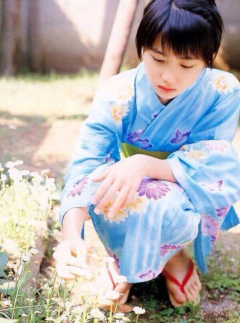 志田未来の浴衣姿