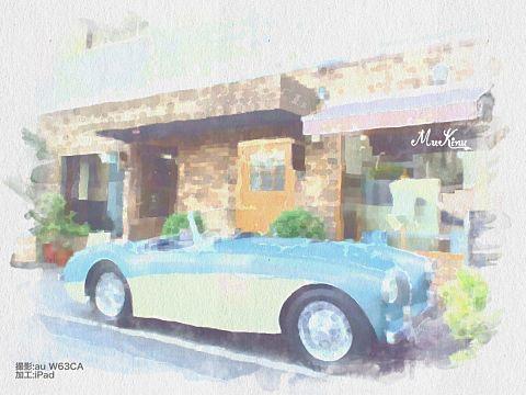青い車の画像 プリ画像