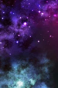 素材 夜空 空 虹 色 星 プリ画像