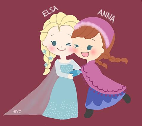 アナと雪の女王 イラスト アナとエルサの画像11点|完全無料画像
