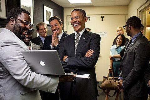 Jimmy Fallon Barack Obamaの画像 プリ画像