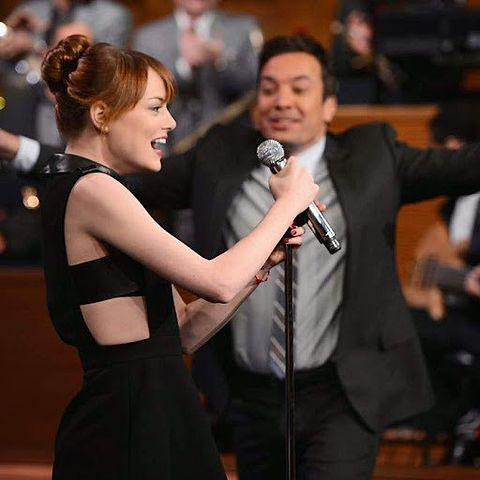 Jimmy Fallon Emma Stoneの画像 プリ画像