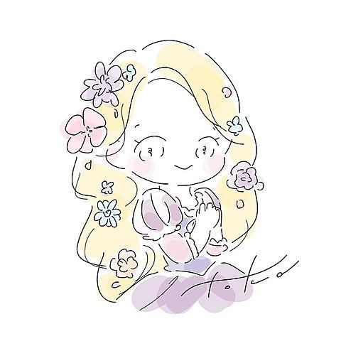 かわいい イラスト ディズニープリンセス ラプンツェルの画像49点 完全無料画像検索のプリ画像 Bygmo