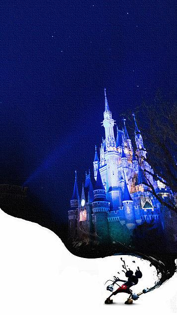 iPhone ロック画面 シンデレラ城 ミッキーの画像(プリ画像)