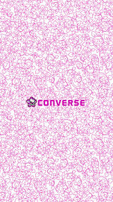 ロック画面 iPhone ロゴ converse キティ プリ画像