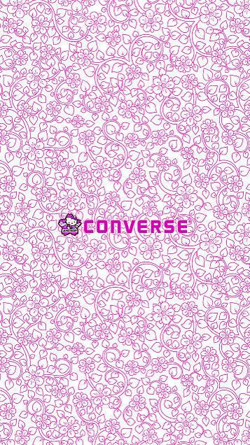ロック画面 iPhone ロゴ converse キティの画像(プリ画像)
