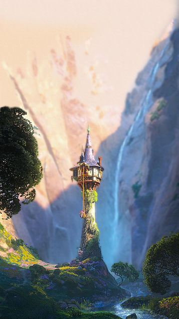 ラプンツェルと塔 iPhoneロック画面用の画像(プリ画像)