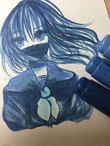青 プリ画像