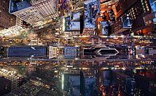 NYの高層ビルから真下を眺めたら!?光の海に吸い込まれるフォト作品の画像(眺めに関連した画像)