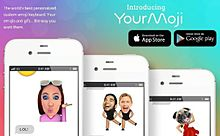 自分の顔がスタンプに!絵文字作成アプリ「YourMoji」が面白いの画像(プリ画像)