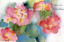 上品な華やかさ!水彩フラワーネイル特集の画像(フラワーネイルに関連した画像)