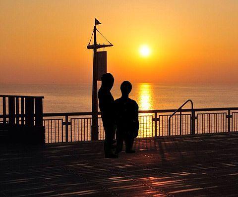 夕日とウエランの画像 プリ画像