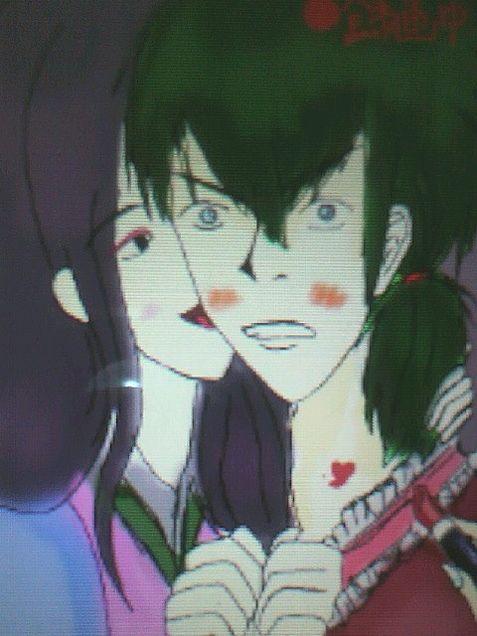 ヅラ子とパー子おまけ付きで土方の女装手書き[DSでカラー編]の画像(プリ画像)