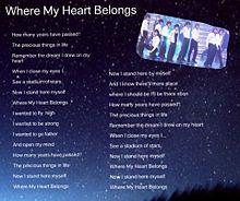 Where My Heart Belongs プリ画像