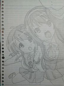 涼宮ハルヒ&朝比奈みくるの画像(プリ画像)