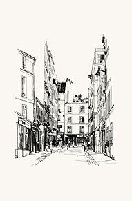 町並みの画像(イラストおしゃれに関連した画像)