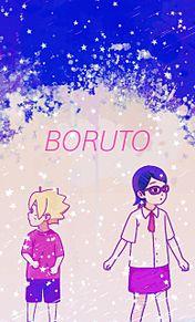 ボルト、サラダちゃんの画像(NARUTO -ナルト-に関連した画像)