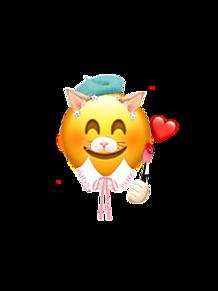 snow×お絵描き猫ちゃん プリ画像
