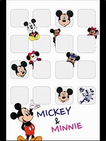 ミッキー iPhone4Sホーム画面 プリ画像