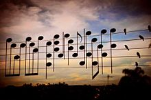 楽譜の画像(電線に関連した画像)