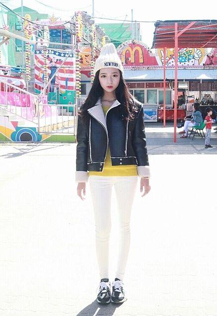 韓国 オルチャン ファッション コーデの画像(プリ画像)