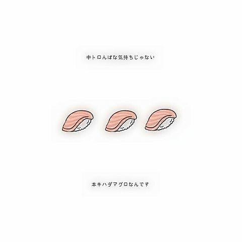 お寿司(中トロ)の画像(プリ画像)
