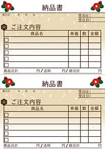 納品書の画像(使用報告:必須に関連した画像)