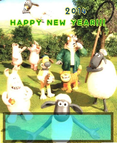 2014 年賀状 羊のショーン No.1 [ID ... : 羊 年賀状 無料 : 年賀状
