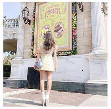 春コーデ(TDS遊園地)の画像(靴下に関連した画像)