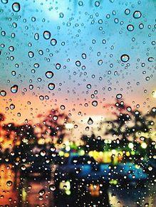 素材 雨 水滴の画像(プリ画像)