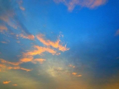 素材 空 夕焼け 雲の画像(プリ画像)