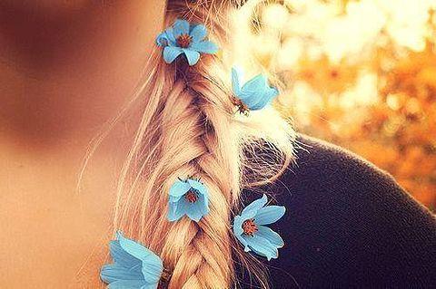 素材 女の子 花 青の画像 プリ画像
