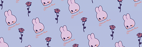 薔薇うさぎのTwitter用ヘッダーの画像 プリ画像