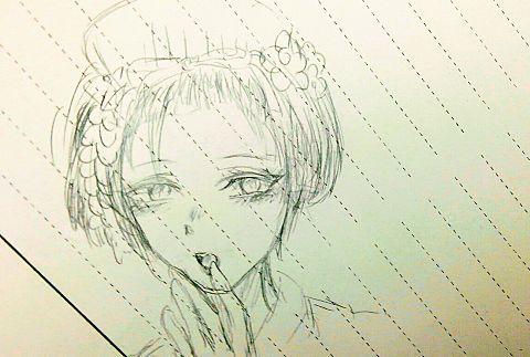 舞妓さん描いたったの画像(プリ画像)