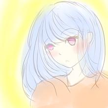 女の子水彩 プリ画像