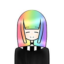 てきとーデフォルメの画像(虹髪に関連した画像)