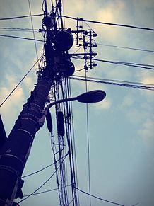 電柱 プリ画像
