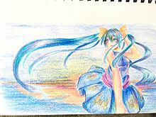百均の色鉛筆でみくさん描いてみたの画像(プリ画像)